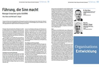 Nico Rose | Michael Steger | OrganisationsEntwicklung