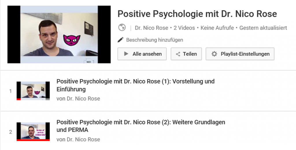 Nico Rose | Positive Psychologie | YoutTube