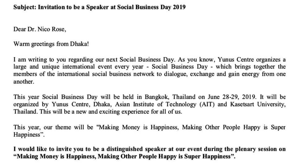 Nico Rose | Social Business Day 2019 - Muhammad Yunus
