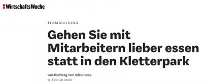Nico Rose | WirtschaftsWoche | Teambuilding