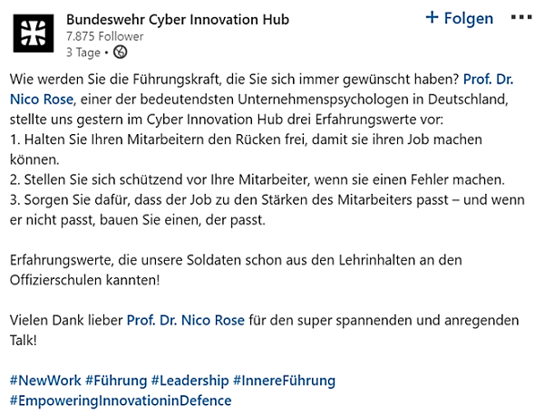 Nico Rose | Cyber Innovation Hub | Bundeswehr