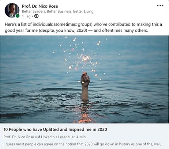 Nico Rose | LinkedIn | Jahresrückblick