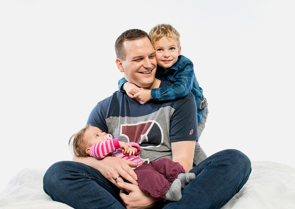 Dr. Nico Rose mit seinen Kindern
