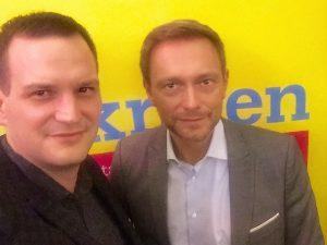 Nico Rose mit Christian Lindner