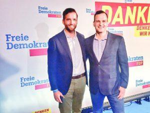 Nico Rose | Fabian Kienbaum | FDP Wahlparty